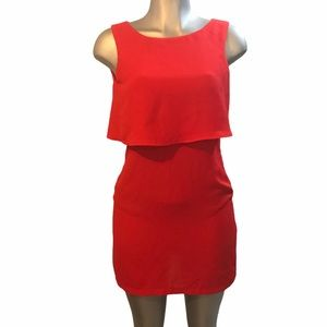 H&M Red Mini Dress Sz 6 or Small Party Night Out